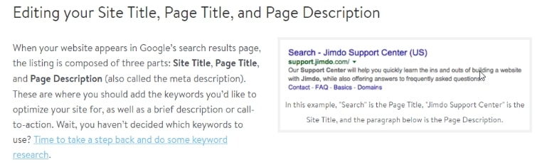 Jimdo basic seo tutorial