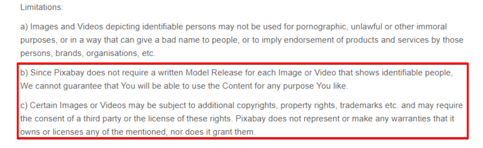 Pixabay terms and conditions
