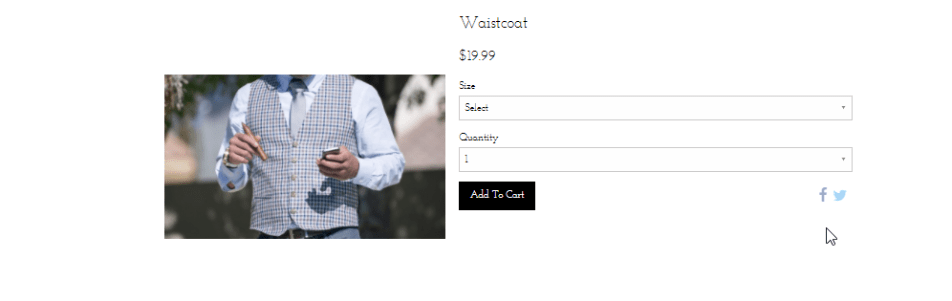 Online store product example