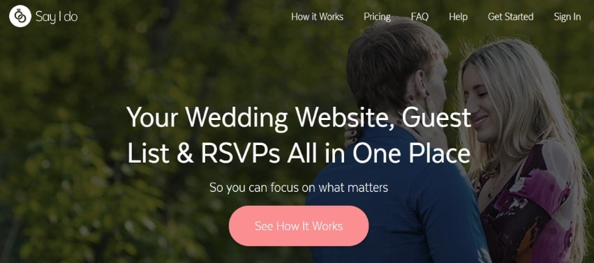 Say I Do homepage